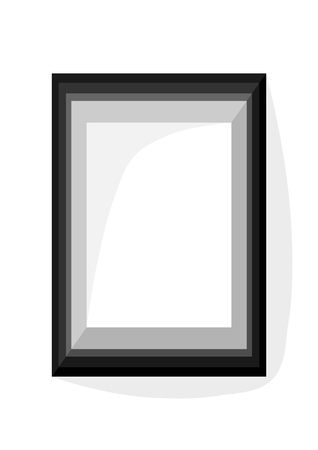 vertically: Gray simple geometric frame with internal dimension A4 vertically Illustration