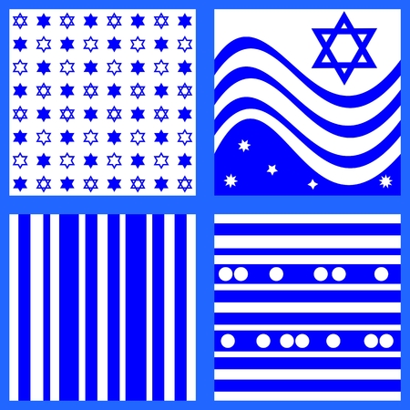 yom: Collection of blue white patterns
