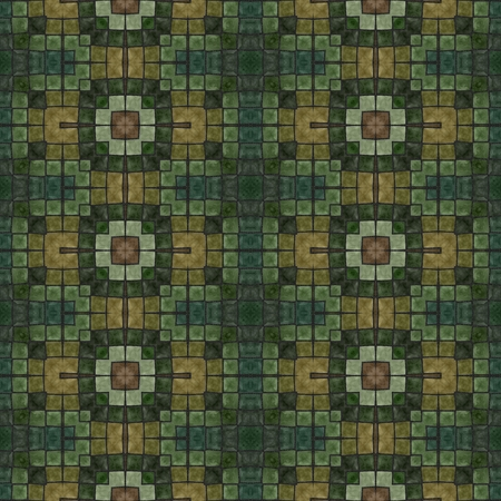 harmonization: Green mosaic with floral motive in ancient style