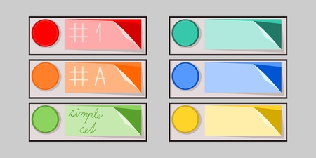 double cross: simple infographics set of colorful buttons