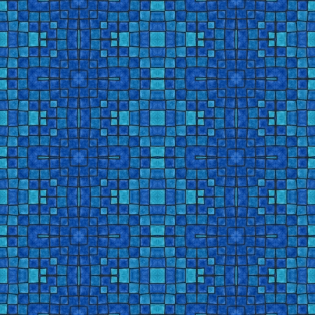 tonality: Retro ancient mosaic blue tonality pattern