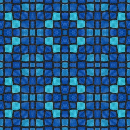tonality: Soft and dark blue mosaic pattern
