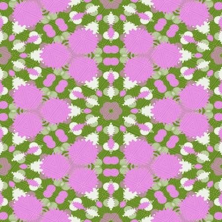 unobtrusive: Pink green geometric wallpaper in retro style Stock Photo