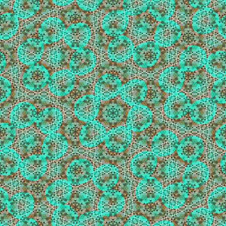 tileable background: Green gray floral hexagonal tileable background