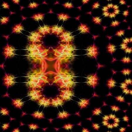 supernova: Supernova explosion  digitally rendered fractal pattern