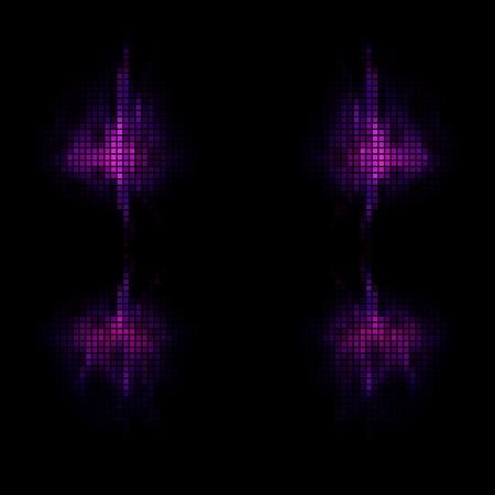 pixelated: Abstract black purple pattern digitally pixelated