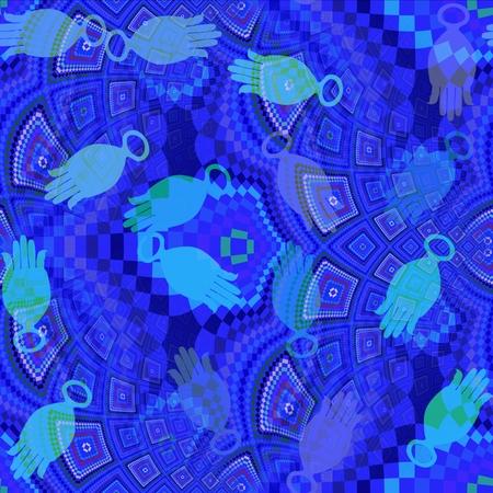 heaving: Fantasy monochromatic fractal mosaic background Stock Photo