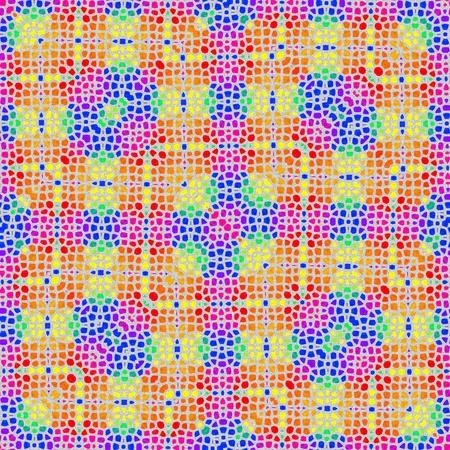 Regular rainbow mosaic seamless pattern photo