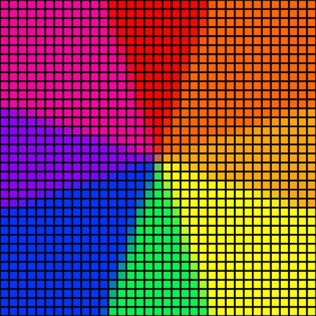 spectre: Abstract pixelated spectre background in rainbow colors