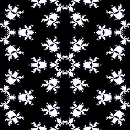 contrast: Contrast pattern with floral orchid motif Stock Photo