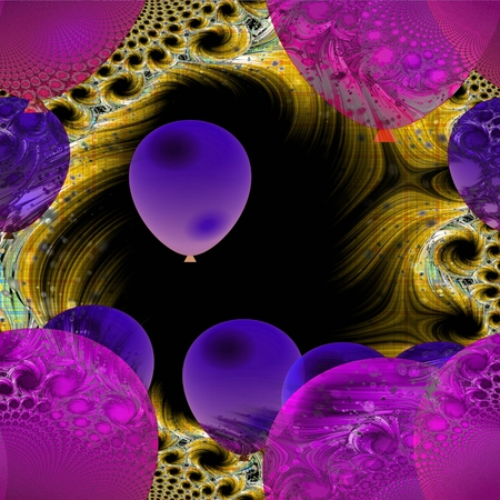 wretched: Dark psychedelic air balloons background