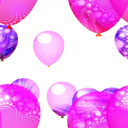 uncluttered: Pink white air party balloons ornamental background