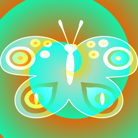 fantasy butterfly: Whitish fantasy butterfly design element