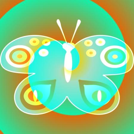 whitish: Whitish fantasy butterfly design element