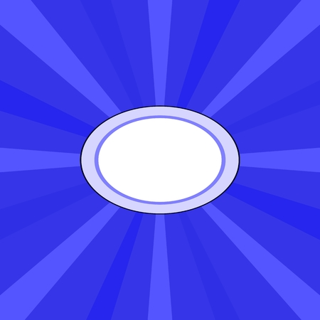 eye catcher: Blue radiant background with clear white oval space for your content in middle
