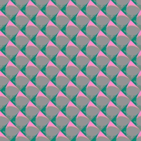 regular: Abstract regular geometric pink turquoise pattern