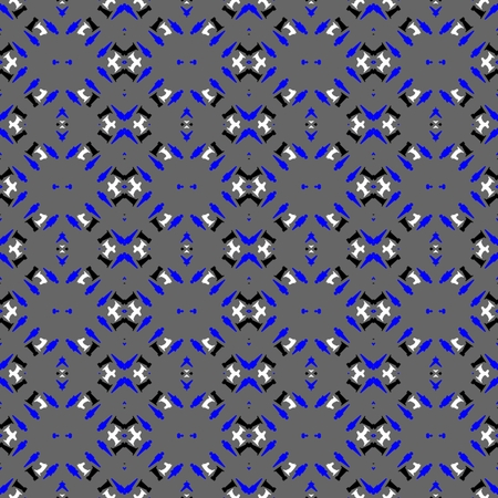 tile able: Abstract gray blue black white ornamental tile able mosaic pattern Stock Photo