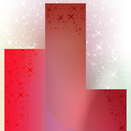 multi level: Red brown podium finish with decorative sparklings Stock Photo