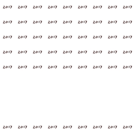 composed: Minimalistic background composed of number 2017 on white background with clear space in bottom