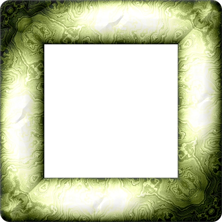 dull: Faded green dull retro decorative frame  computer rendered design Stock Photo