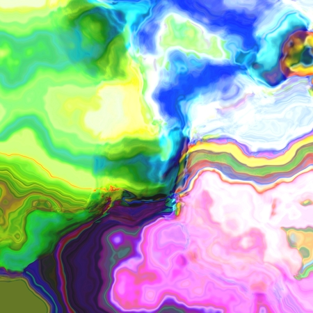 rendered: Abstract rainbow oil digitally rendered cloudy fantasy pattern Stock Photo