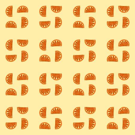 monochromatic: Fine orange monochromatic mandarin cartoon pattern
