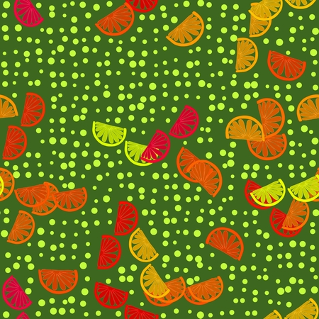 sappy: Seamless colorful cartoon stylized tangerines background