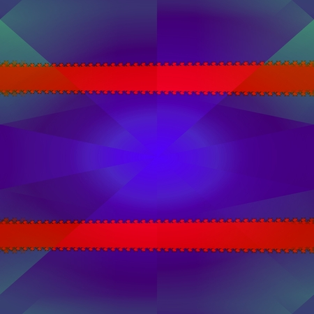 horizontally: Psychedelic purple futuristic background with two horizontally decorative stripes