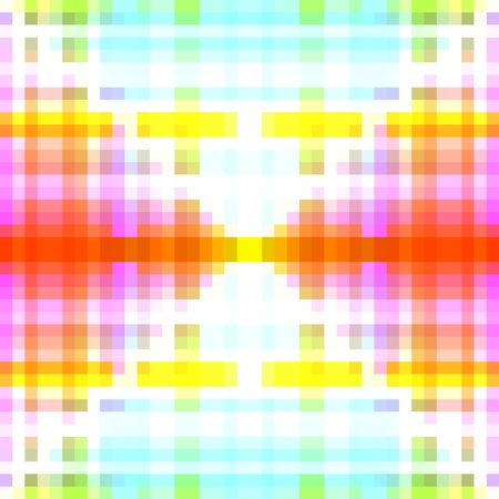 pixelation: Soft bright white blue pink orange green yellow pixelation with diagonally effect