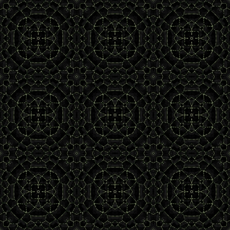 annealed: Abstract decorative dark mosaic pattern with nine round shapes Stock Photo