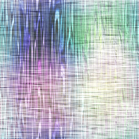 green purple: Abstract seamless cross faded colors curved stripes background. Blue white green purple textured pattern. Digitally rendered design with layered effect.