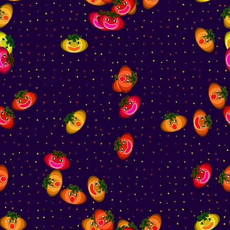 blithe: Jokeful Halloween seamless pattern with jolly colorful pumpkins