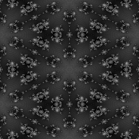 tonality: Abstract decorative floral black white gray monochromatic pattern
