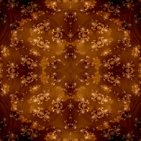 rendered: Brown decorative shining fractal floral seamless pattern - digitally rendered graphic