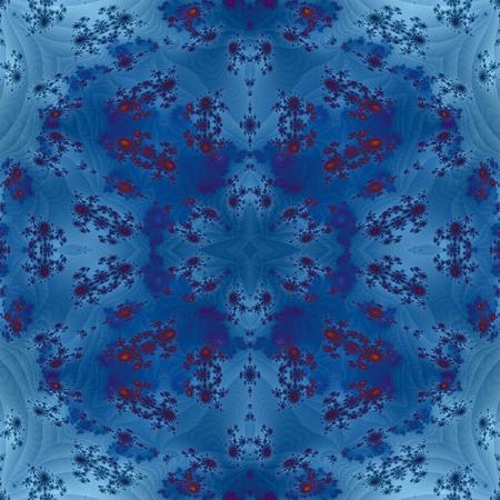tonality: Blue floral monochromatic tileable decorative background Stock Photo