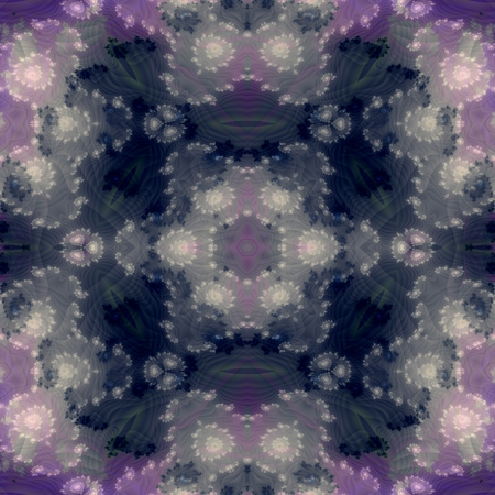 tonality: Abstract smoky gray purple floral fractal tileable endless pattern