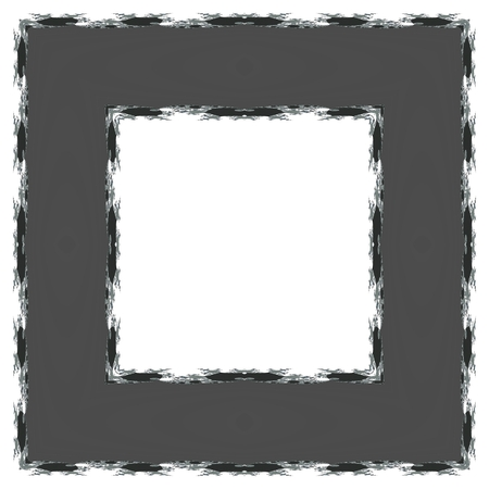 centralized: Gray frame with fractal ornamental edging and clear white copyspace - computer generated design element