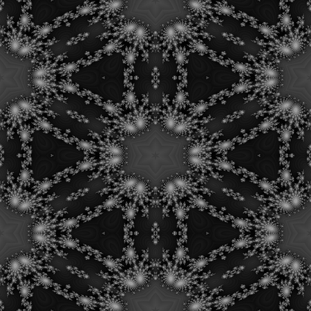 rendered: Abstract monochromatic fractal floral gray shades seamless digitally rendered sidebar.