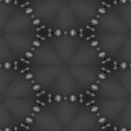 ornamentation: Black white decorative monochromatic regular kaleidoscope seamless ornamentation