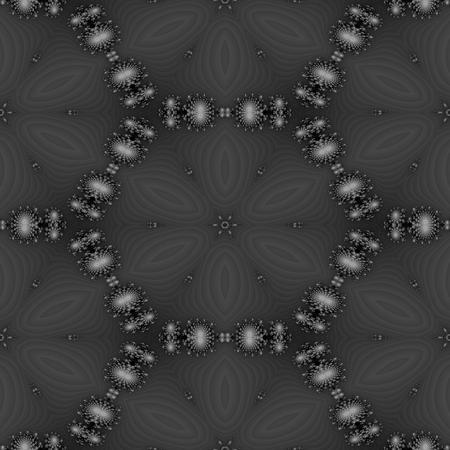 regular: Nero bianco decorativo monocromatico caleidoscopio regolare senza soluzione di continuit� ornamento