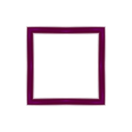 mauve: Square mauve fractal frame with clear white copyspace