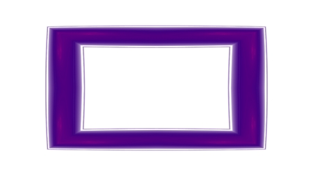 oblong: Purple oblong clear frame - computer generated pattern