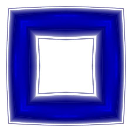 regular: Blu regolare cornice quadrata frattale in op stile art