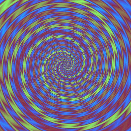 borehole: Abstract blue green purple spiral design