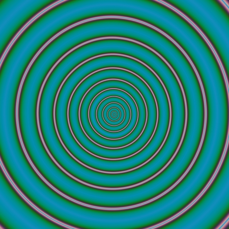 rendered: Abstract circular turquoise beige shape - digitally rendered graphic Stock Photo