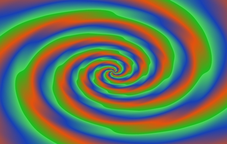 gree: Blue gree orange purple spiral. Abstract color background oblong shape in dimensions usable as visiting or business card.