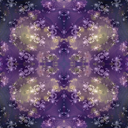 sidebar: Abstract psychedelic mirroring regular symmetrical seamless watercolor digitally rendered sidebar