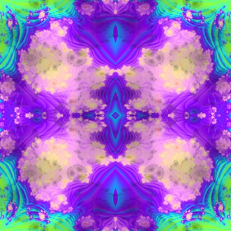 mirroring: Abstract decorative blue green purple mirroring seamless background like aquarelle art technique - digitally rendered design Stock Photo