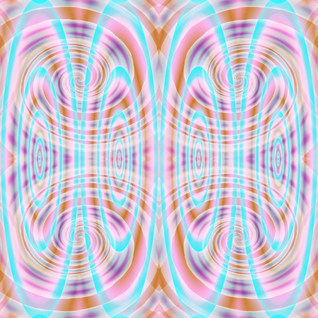 rendered: Abstract ovals and spirals bright pattern - digitally rendered graphic Stock Photo