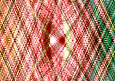 derived: Abstract orange red green cross lines pattern - A3 and derived dimensions Stock Photo